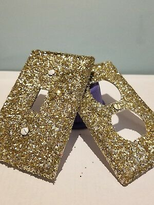 Gold & Silver Glitter Mix Light Switch Plate Cover- Multi Outlets