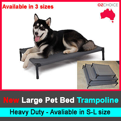 Dog Puppy Cat Pet Bed Trampoline Heavy Duty Frame Mesh Hammock Canvas S M L AU