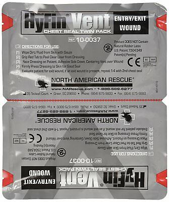 Rescue Hyfin 3 Vent Chest Seal Twin Pack Penetrating Chest Wall Injuries Aid