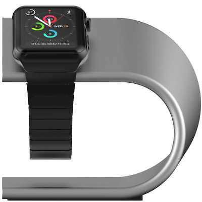 Nomad Military-Grade Aluminum Charging Stand for Apple Watch - Silver Anodized