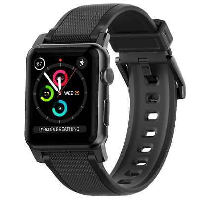 Nomad Vulcanized LSR Silicone For Apple Watch Strap - 42 MM Band Stainless Steel