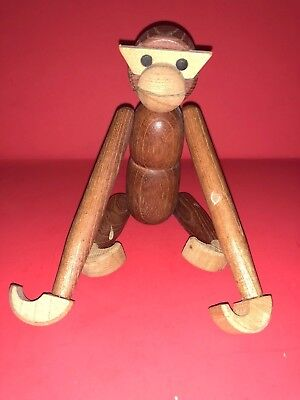 Vintage Mid Century Modern Wood Long Arm Monkey Ape Figurine Toy Bojesen Style
