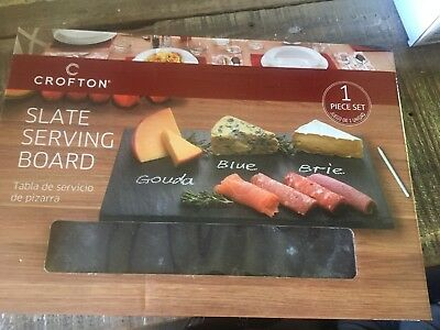 Crofton Slate Serving Board FARMHOUSE FUN GIFT PARTY CHEESE PLATE CHALK SNACK : cheese plate gift set - pezcame.com