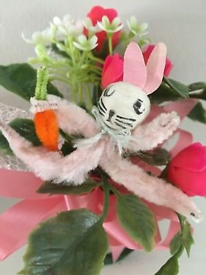 Vintage Easter Lot Corsage Bunny Rabbit Girl Boy Duck Chenille Figures CUTE!