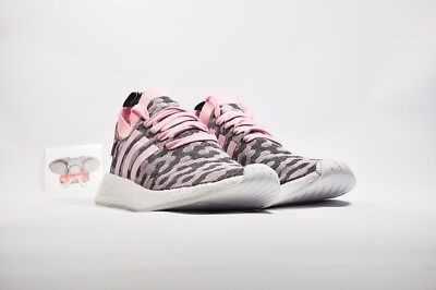 cbd171170 ADIDAS NMD R2 WONDER Pink and Core Black Knit Shoes Wmns Size 9.5 ...