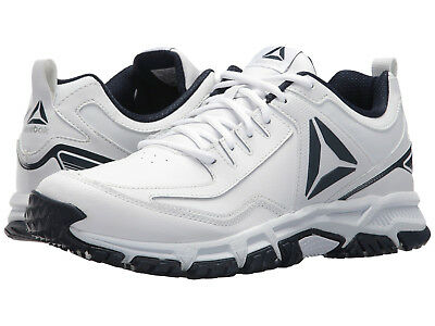 Men Reebok Ridgerider Leather Trail Shoes CN0955 White Navy 100% Original New