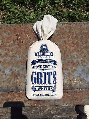 Palmetto Farms White Grits Non-GMO Gluten Free WE ARE THE MANUFACTURER! Polenta