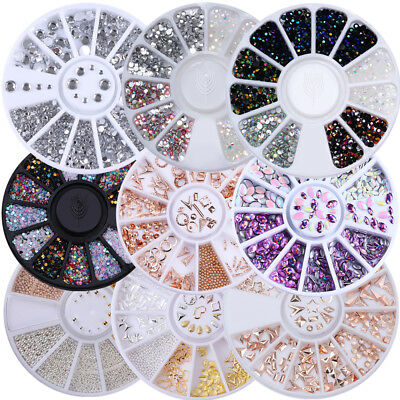 Nagel Glitzersteine Straßsteine 3D Strass Stud Nail Art Dekoration in Wheel