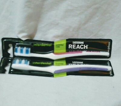 Listerine REACH Interdental Toothbrush x2 Medium Dental Care Essential Teeth