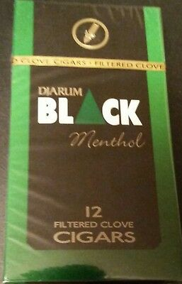 NEW 1 Sealed Pack (12 CIGs) Djarum Black MENTHOL Cloves US SELLER! Kretek