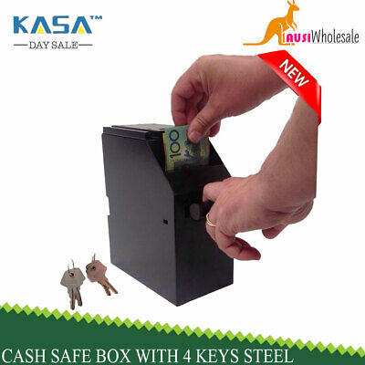 4 Point Of Sale Cash Safe Box Under Counter With 4 Keys Steel Construction 2016