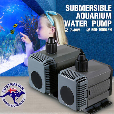 Submersible Water Pump Aquarium Pond Marine Tank Waterfall Fountain 180-2800LPH