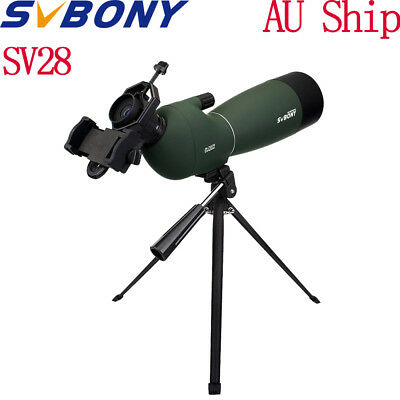 New SVBONY 25-75x70mm Angled Zoom Spotting Scope Waterproof+Tripod&Phone Adapter