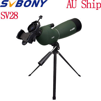 SVBONY 25-75x70mm Angled Zoom Spotting Scope Waterproof+Tripod&Phone Adapter