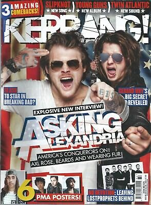 KERRANG! #1529 AUG 2014: ASKING ALEXANDRIA No Devotion BODYCOUNT Issues ICE-T