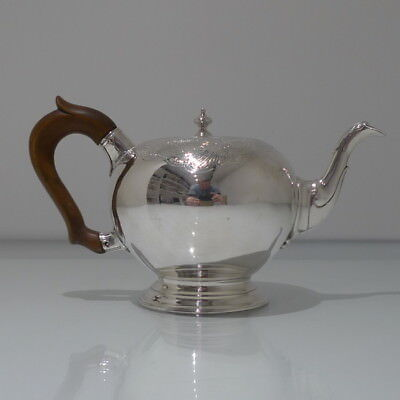 Mid 18th Century Antique George II Sterling Silver Bullet Teapot London 1741