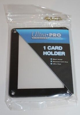 Ultra Pro 1-Card Black Frame Screwdown Holder - Präsentationsrahmen