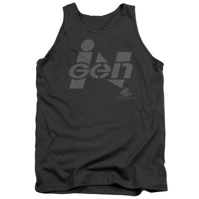 Jurassic Park Movie INGEN LOGO Licensed Adult Tank Top All Sizes