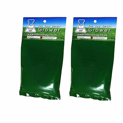 2x SMART Co2 Bag Hydroponics Grow Tent Growing Exhale Bloom Organic Herb Yields