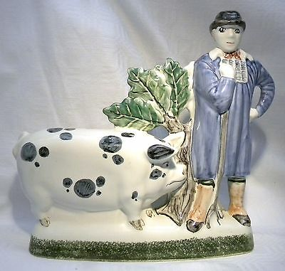 Rye Pottery  Figure  Farmers Pride Old Spot Pig