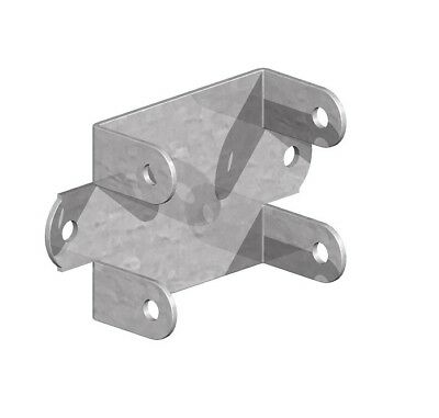 Fence Panel Clips / Trellis Clip Brackets 32mm Easy Fit Galvanised Coated