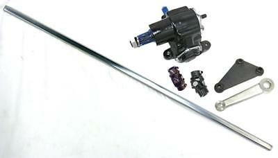 "Vega Steering Box + 36"" DD Steering Shaft Pitman Arm Black U-Joints & Bracket"