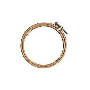 Elbesee Embroidery Hoop with Metal Screw Fastening, Wood, 10-Inch