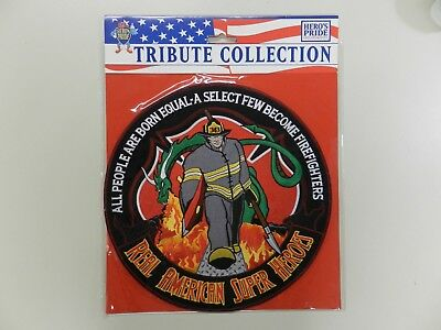 "Hero's Pride Tribute Collection  12""  ""Real American Heroes Fire Fighters"" Patch"