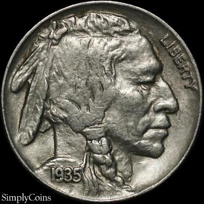 1935 Indian Head Buffalo Nickel ~ XF Extremely Fine ~ US Coin