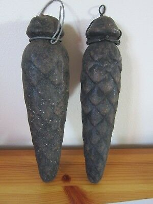 Very Old Large weights for an Antique Cuckoo Clock ( pair )