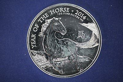 2014 Britannia - 2 Pounds UK Great Britain 1 oz Silver - Year of the Horse