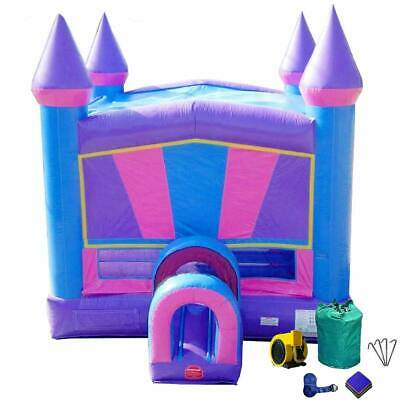 Miraculous Pink Purple Modular Bounce House Castle With Blower Kids Commercial Inflatable Home Interior And Landscaping Ferensignezvosmurscom