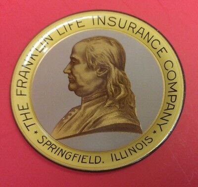 The Ben Franklin Life Insurance Company tip tray in mint condition.