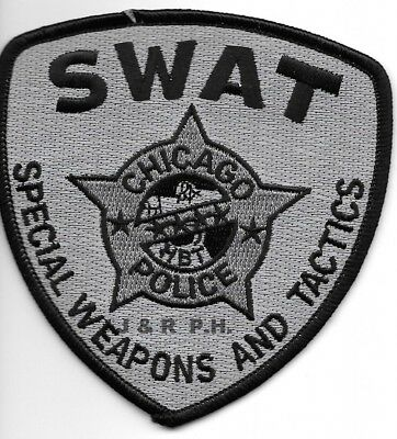 "*NEW*  Chicago  S.W.A.T., Illinois  (4"" x 4"" size) shoulder police patch  (fire)"