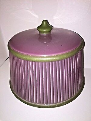 Glass Ceiling Light Cover Shade Vintage 1930s 1940s Pale Pink/Purple&Green Deco
