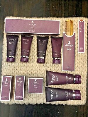 ASPREY PURPLE WATER Shower Gel Shampoo Conditioner Body Lotion Soap Comb ++ NIB