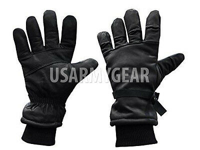 Army Leather Cold Wet Weather ICW Quality Size 3 Gloves XS,S,M Medium Womens Kid