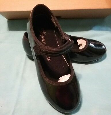 Dance glass girl tap shoes size 12