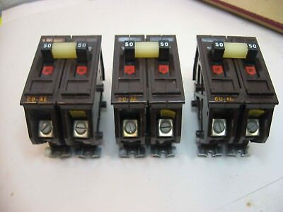 3 Never Used Wadsworth 50 Amp 120/240 Double Pole Circuit Breakers In Box