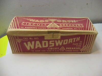 10 Never Used Wadsworth 15 Amp 120/240 Single Pole Circuit Breakers In Box