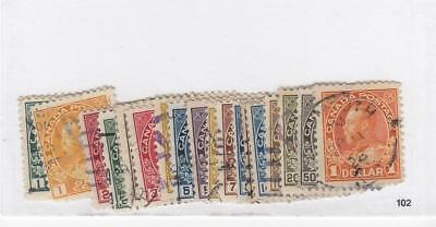 Canada #104-122 Lightly Used  Various Cts. King George V Admirals