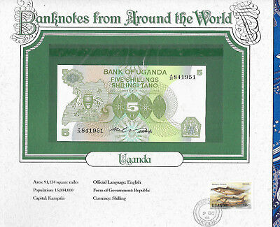 World Banknotes Uganda 1982 5 Shillings P15 UNC Birthday note A/25 841951