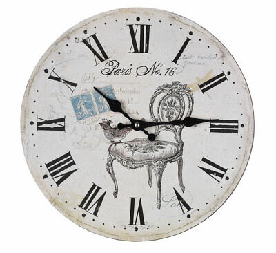 French Wall Clock in Country House Style Kitchen Clock Retro