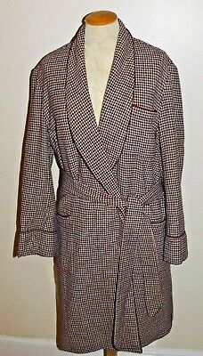 Vintage Ohrbach's All Wool Plaid Belted  Robe Size Small Made in England RARE