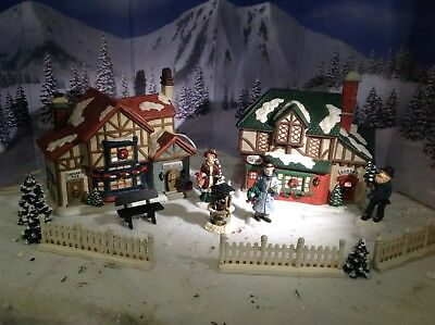 Christmas Village Houses.Christmas Village Houses Village Square Collection From Mervyns