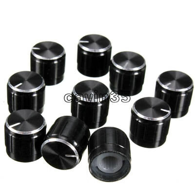 10pc Volume Control Rotary Knobs For 6mm Dia Knurled Shaft Potentiometer Durable