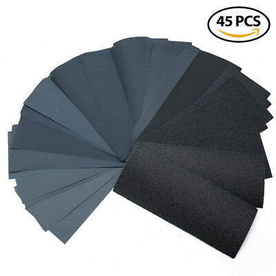 9x3.6'' WET DRY SANDPAPER 80 to 400 600 800 1000 1200 1500 2000 2500 3000 GRIT