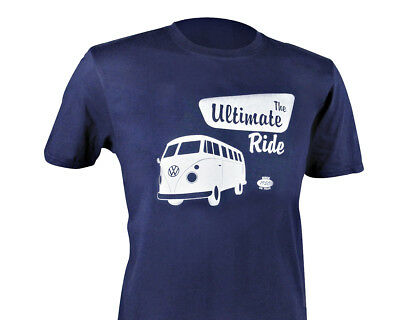 Oficial VW Furgoneta Van T1 Hombre Azul Camiseta - The Ultimate Ride