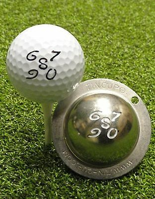1 only TIN CUP GOLF BALL MARKER- BACK NINE NUMBERS 6 to 0  & YOURS FOR LIFE
