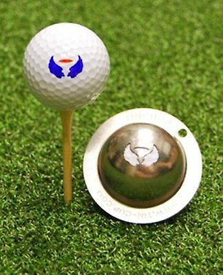 1 only TIN CUP GOLF BALL MARKER -7 TH HEAVEN - BUY ANY 2  CUPS get special offer
